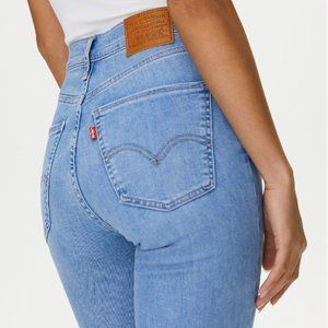 LEVIS | mile high super skinny light wash jeans 27